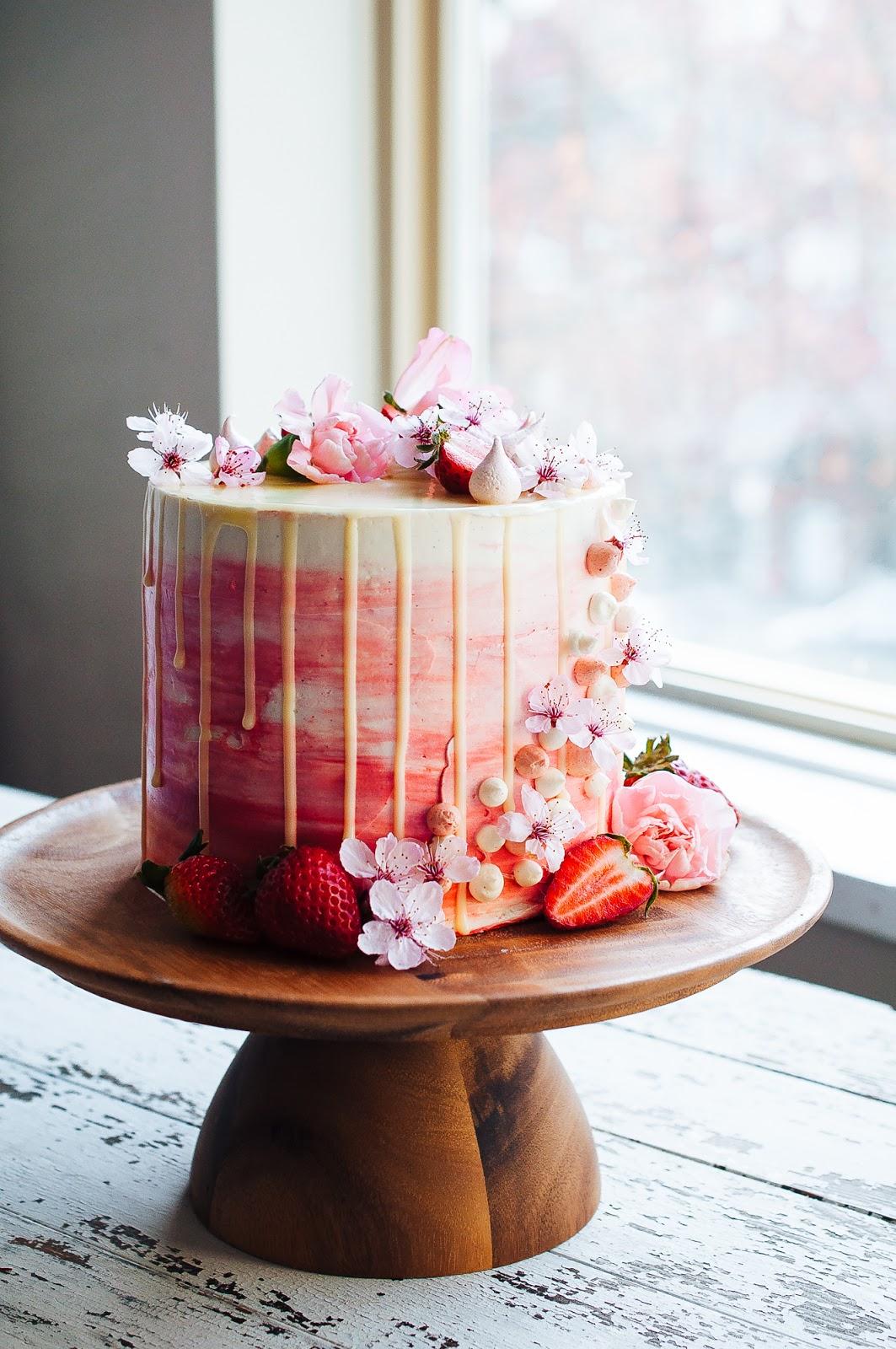 Strawberry and Vanilla Bean Cake —