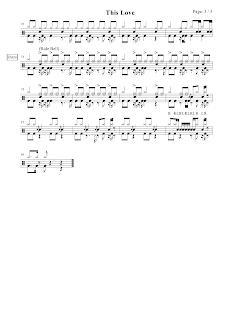 我的舞蹈筆記簿: 爵士鼓譜:【Maroon 5 - This love】