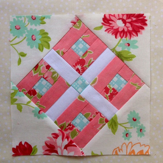 Tudor Rose Block Free Pattern designed By Rose Johnston of Threadbare Creations