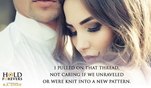 I pulled on that thread, not caring if we unraveled or were knit into a new pattern.