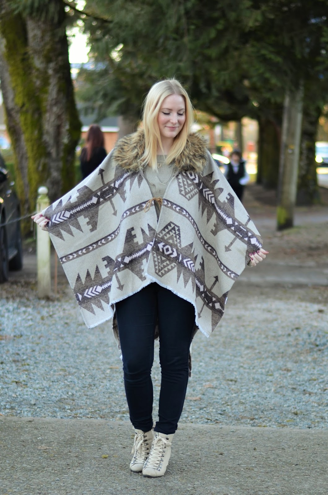 1d78e4c0f3d Have you tried any of these styles yet  They re part of my super easy  winter uniform  cape poncho blanket