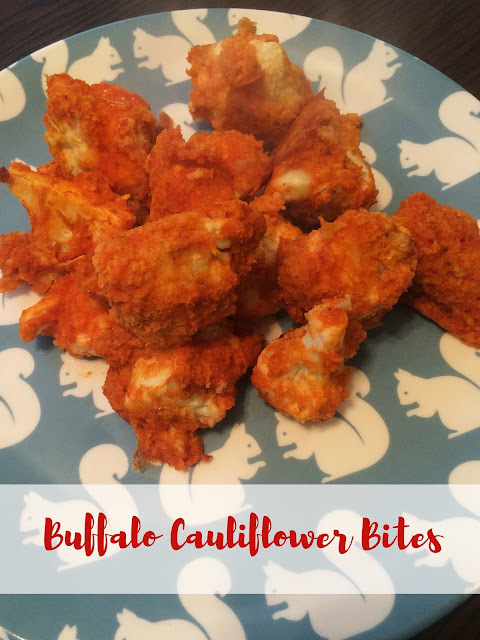Baked Buffalo Cauliflower Bites | My Name is Sara - mynameissarablog.blogspot.com