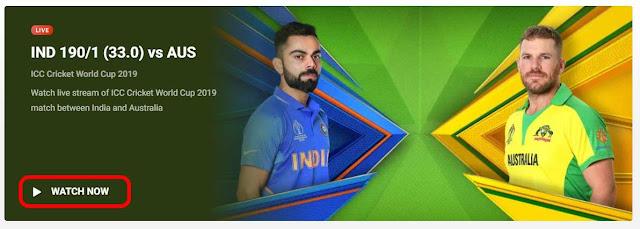 IND VS AUS On Hotstar
