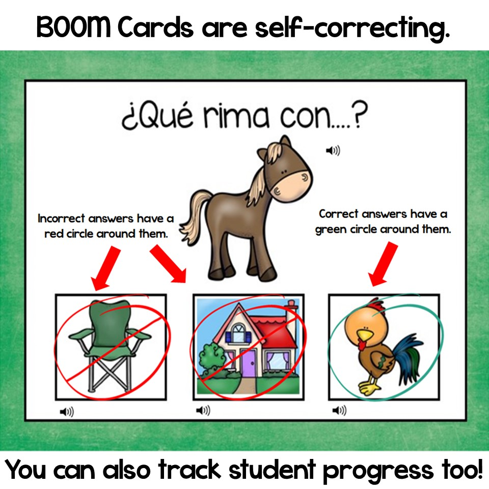 BOOM Cards-Rhyming in Spanish- Amazing and Fun Resource for Digital Learning