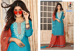 The Ethnic Studio Snickers kurtis with palazzo and Dupatta