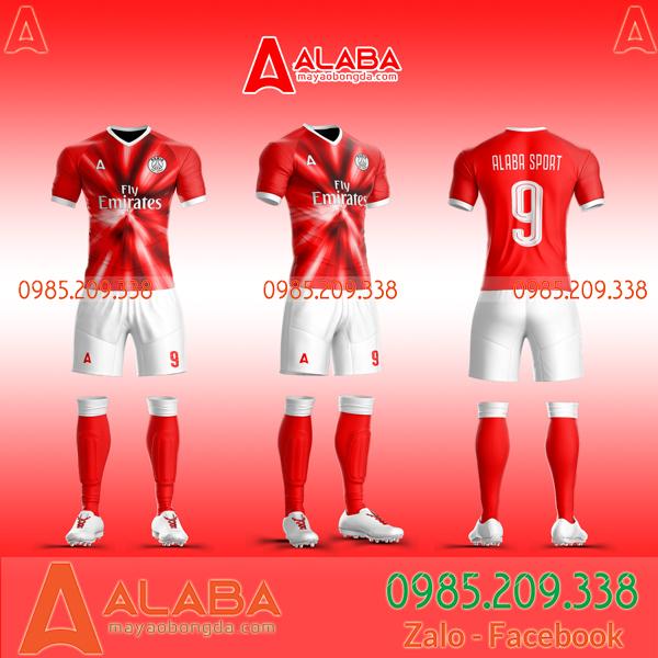 Áo PSG tự thiết kế màu đỏ độc lạ