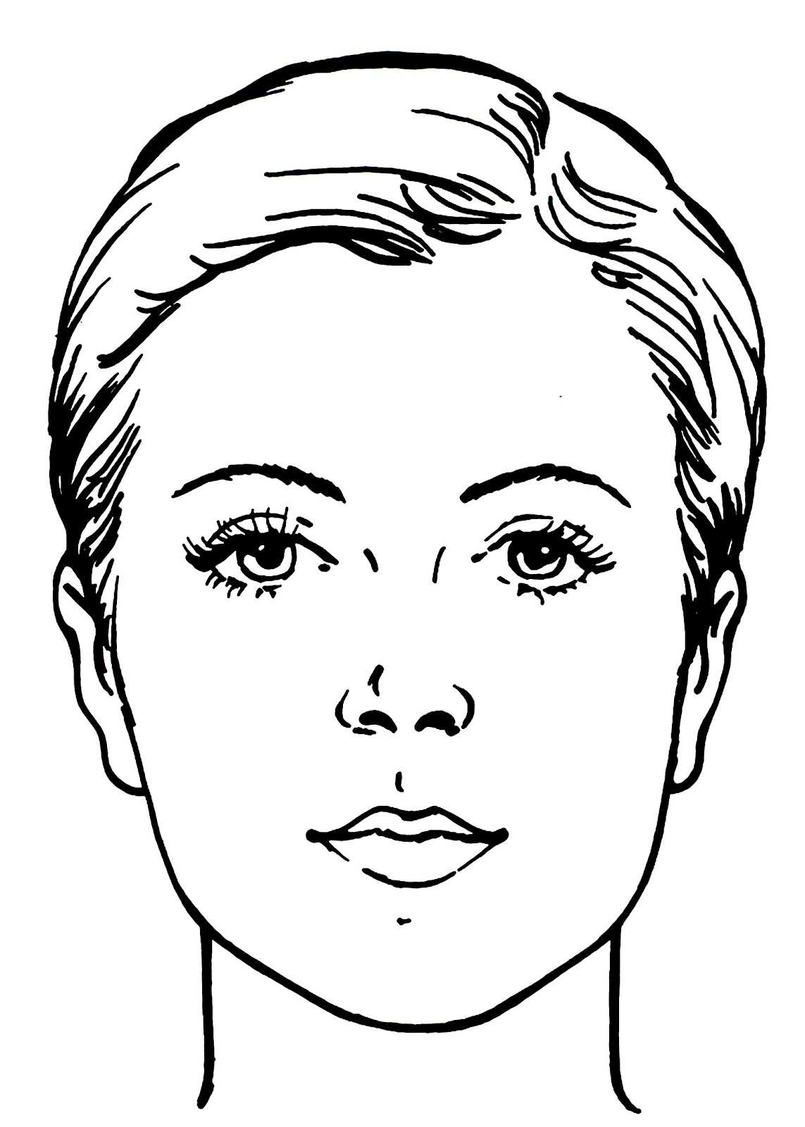 Sketch Of Famous Female Faces Coloring Pages