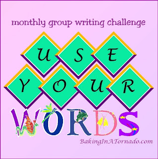 Use Your Words, a monthly group writing challenge | developed by and graphic property of www.BakingInATornado.com | #bloggingchallenge #MyGraphics