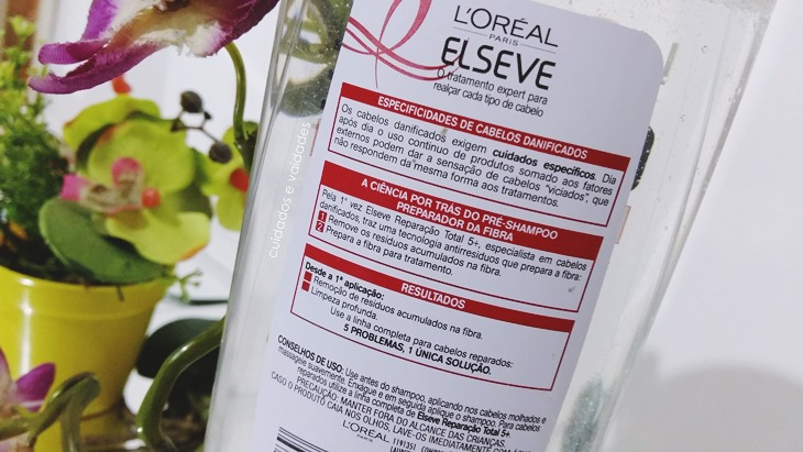 Pré Shampoo Elseve Reparação Total 5