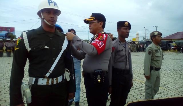 Amankan Pilkada Polres Aceh Jaya Gelar Apel Pasukan Operasi Mantap Praja Rencong 2017