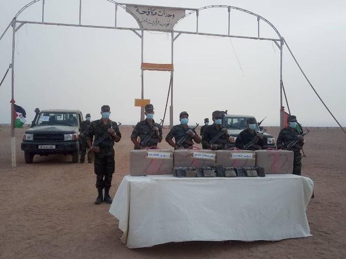 الجيش الوطني الصحراوي يحبط عملية لتهريب المخدرات عبر جدار الذل والعار المغربي.