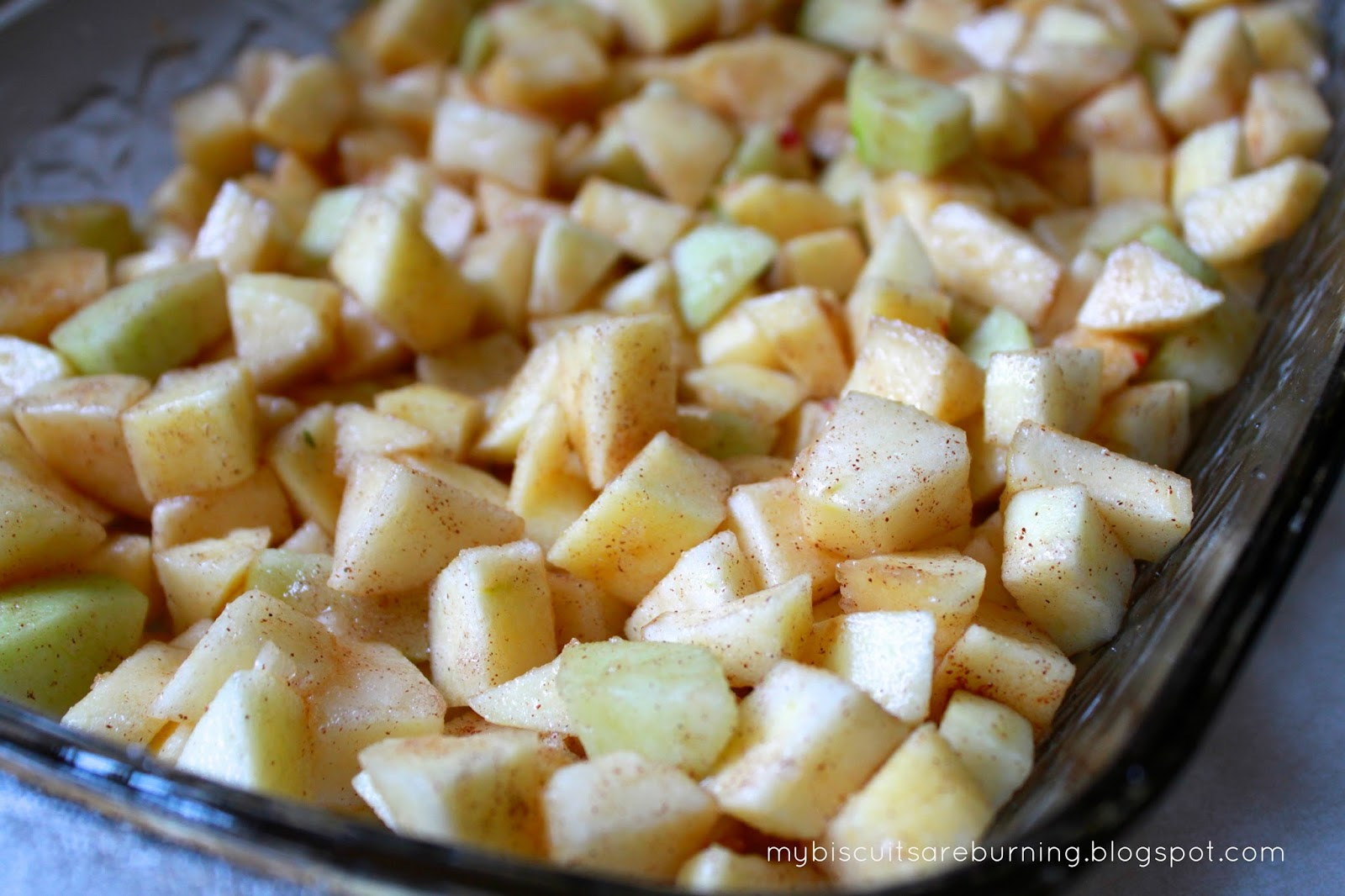 See The Specks Of Cinnamon Mixed Into Apples With Sugar And Lemon Juice Yum