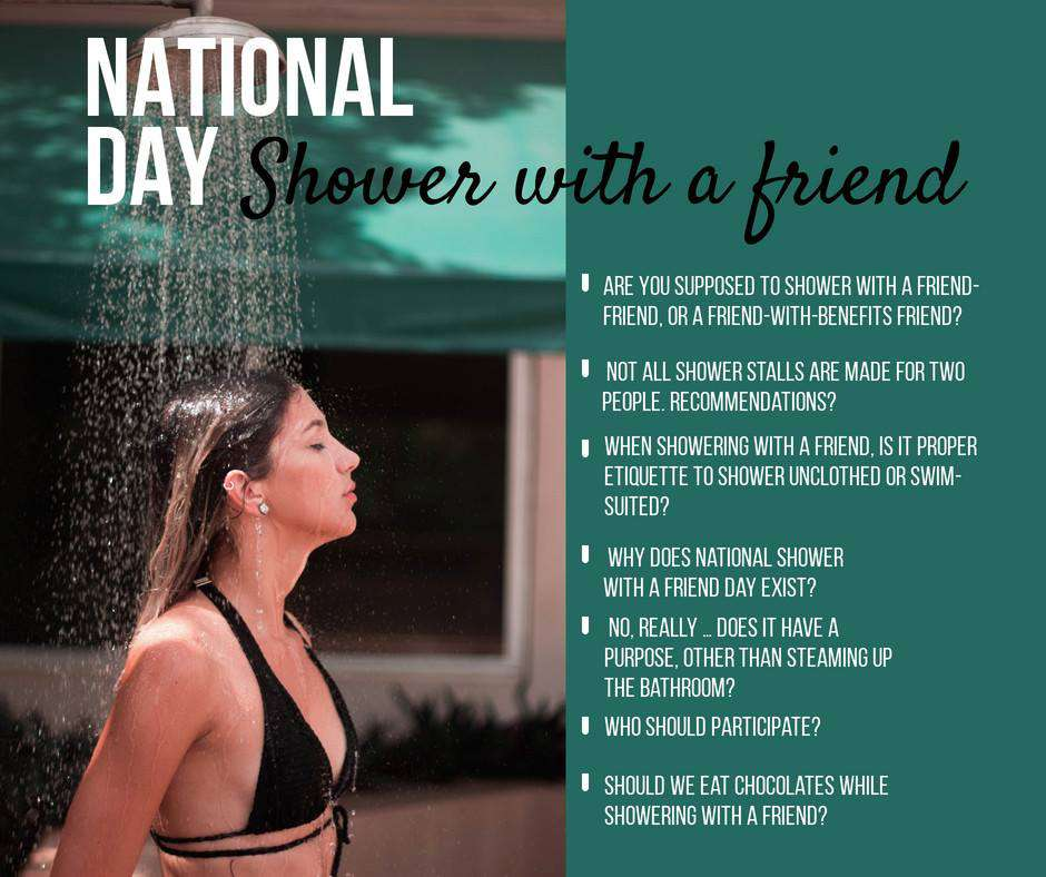 National Shower with a Friend Day Wishes Unique Image