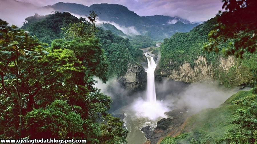 Egy titokzatos óriási víznyelő eltüntette Ecuador legmagasabb vízesését
