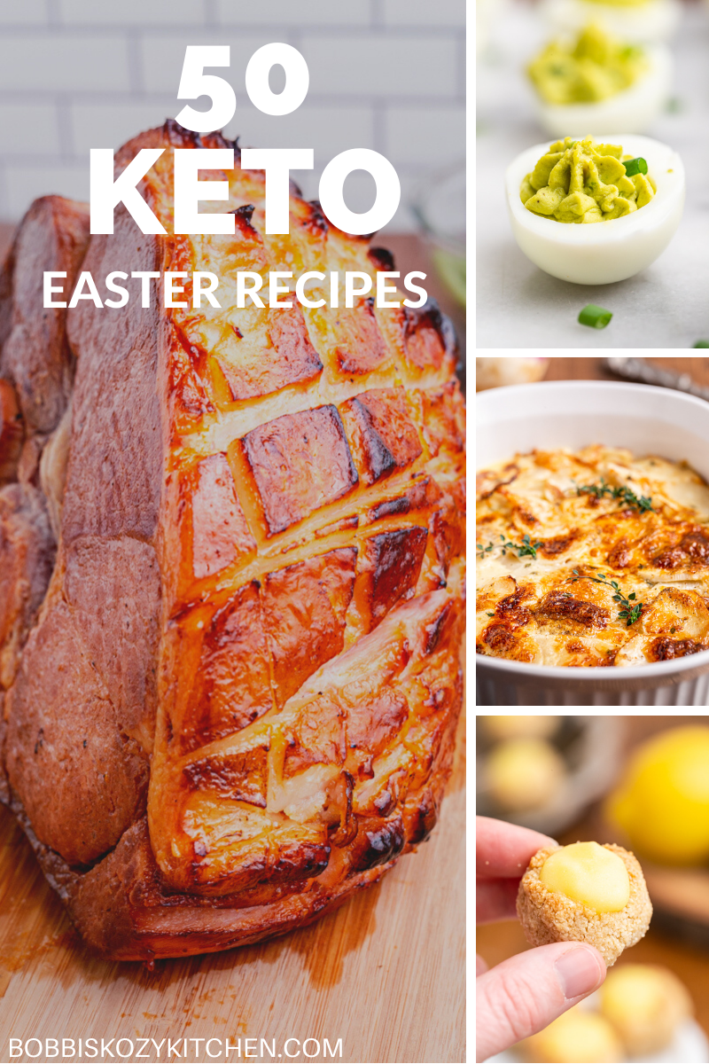 50 Keto and Low Carb Easter Recipes - Keep your diet on track and your taste buds happy with these amazing Easter menu ideas. Everything from breakfast to dessert is included! #lowcarb #keto #easter #breakfast #brunch #appetizer #dinner #sidedish #dessert #recipes