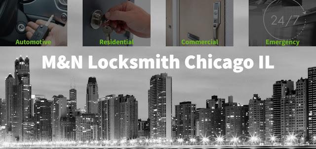 automotive locksmith Chicago M&N locksmiths IL locked out unlock company