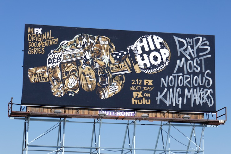 Hip Hop Uncovered series launch billboard