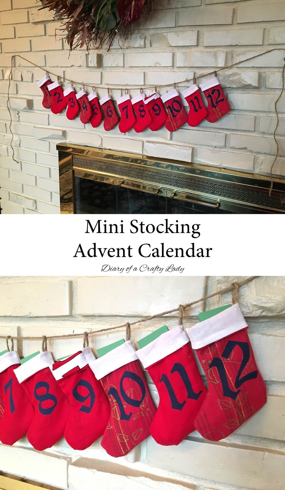 diary of a crafty lady mini stocking advent calendar. Black Bedroom Furniture Sets. Home Design Ideas