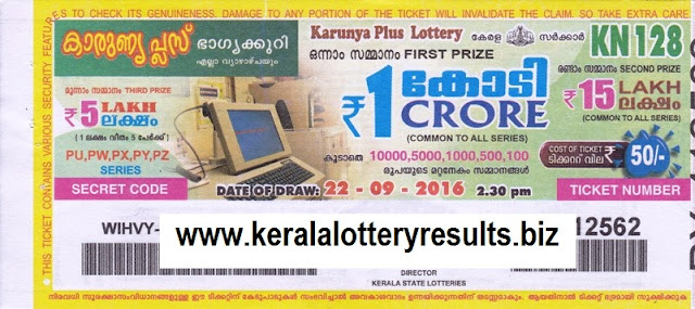Results lottery KR 121