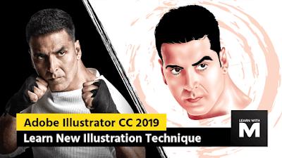 Akshay Kumar Illustration - Adobe Illustrator CC 2019 Illustration Tutorial