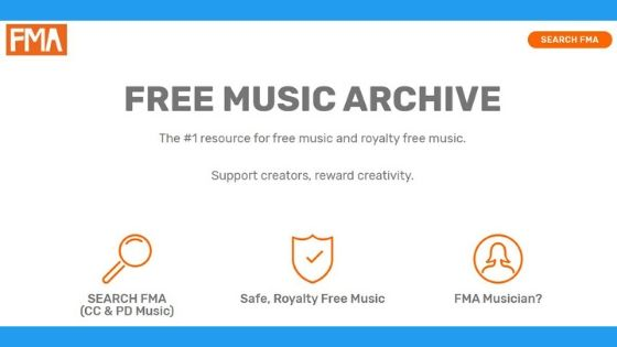 Website Free Music Archive