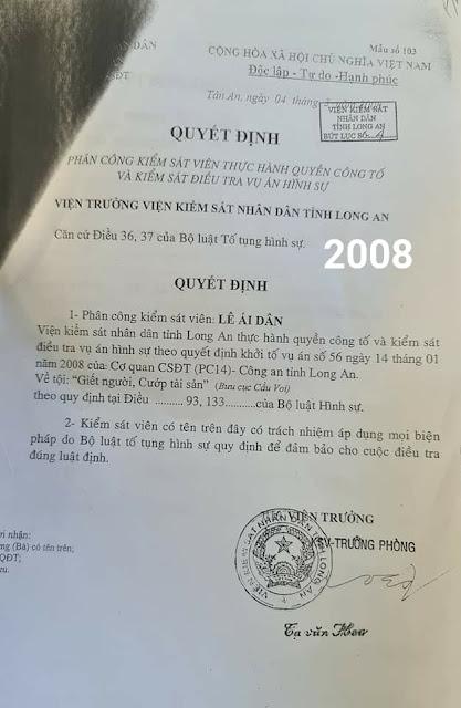 Kiểm sát viên Lê Ái Dân ra làm việc với VKSND tối cao về vụ án Hồ Duy Hải