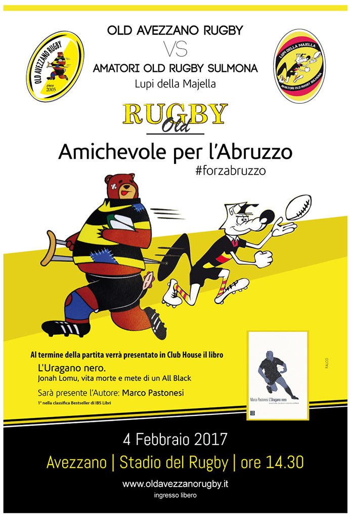 Rugby - Presentazione libro - L'Uragano Nero, Jonah Lomu di Marco Pastonesi
