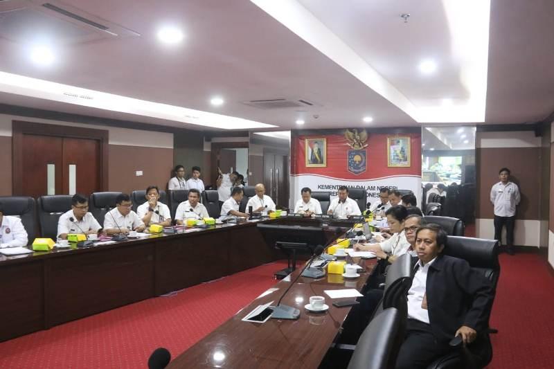Kemendagri Gelar Video Conference Provinsi Cek Kesiapan Pemilu Serentak 2019
