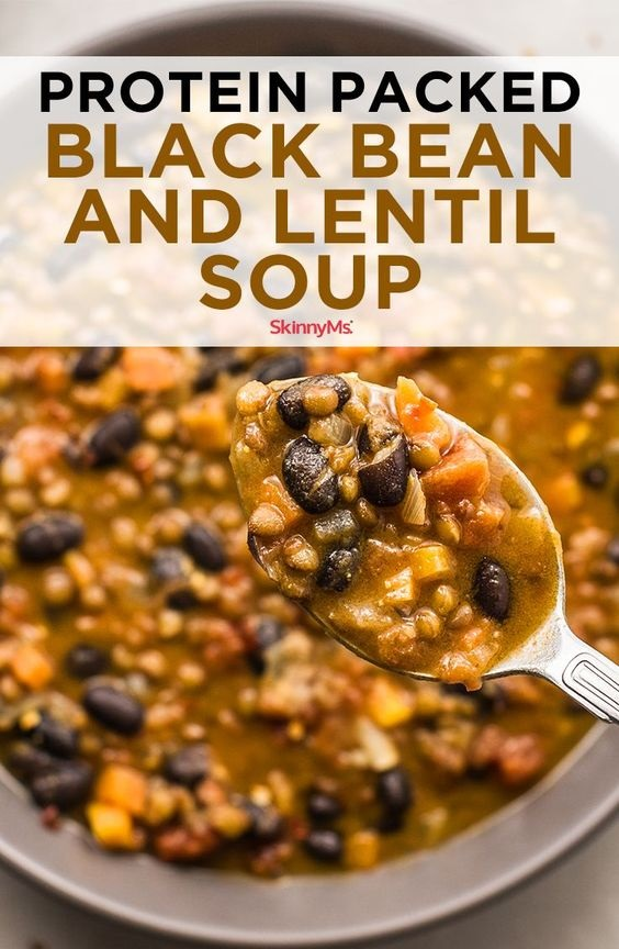 Protein Packed Black Bean And Lentil Soup Recipe