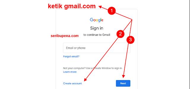 Cara Membuat Email Baru akun Gmail