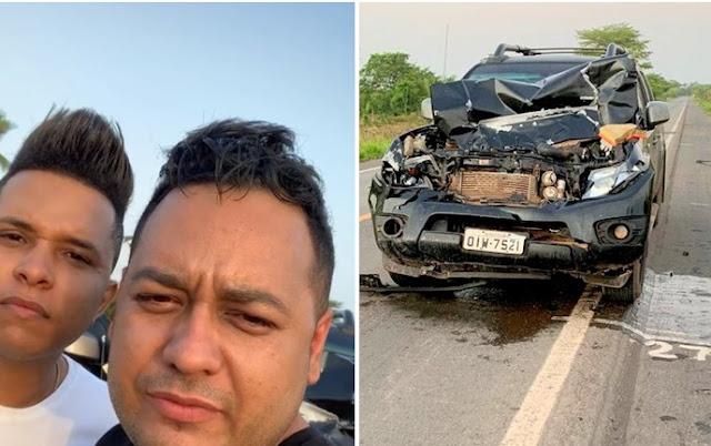 Vocalistas da banda Mesa de Bar sofrem acidente no Maranhão