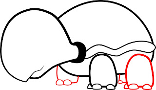 How To Draw A Cartoon Turtle Step 4