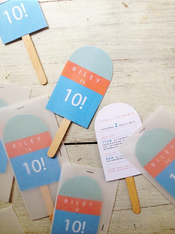 tania mccartney blog icy pole birthday party invitations