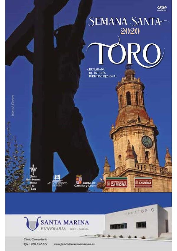 Programa con Horarios e Itinerarios de la Semana Santa de Toro (Zamora)
