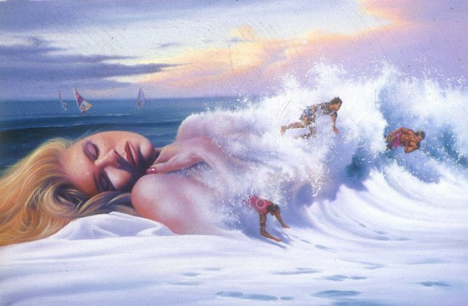 Jim Warren 1949    American Fantasy and Surrealist painter