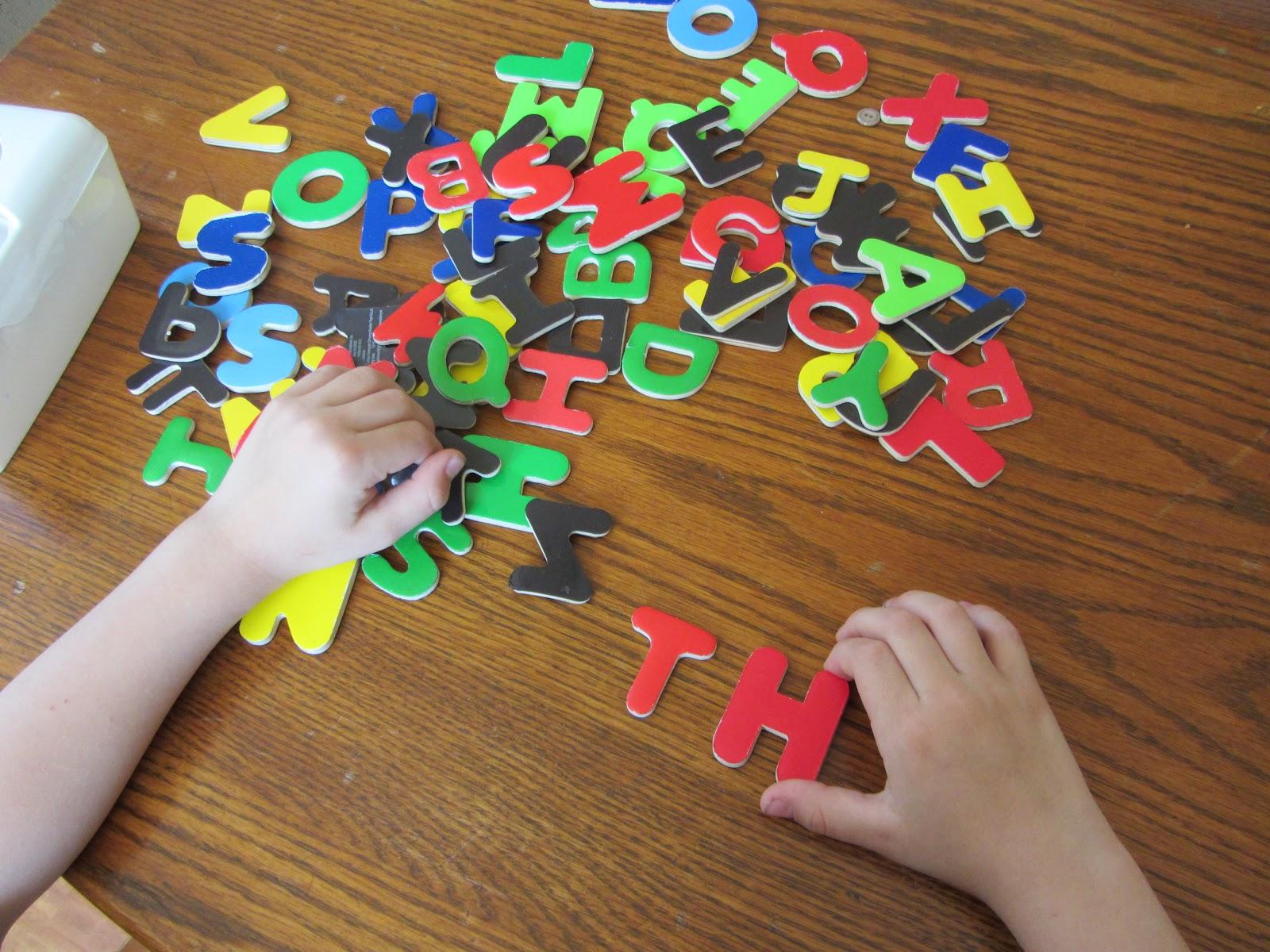 The Unlikely Homeschool Phonics Magnets
