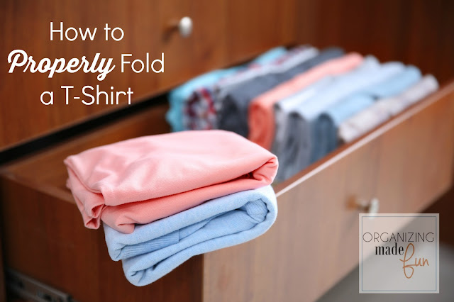 How to Properly Fold a T-Shirt :: OrganizingMadeFun.com