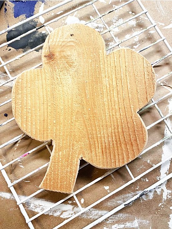 Raw wood shamrock shape