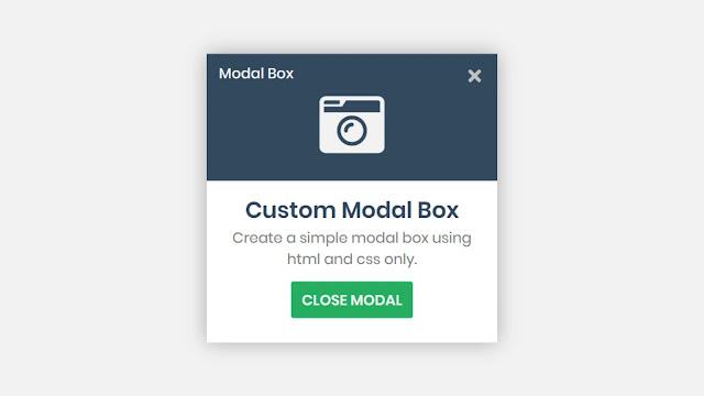 Custom Modal Box Design