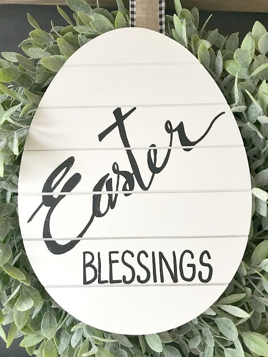 Hand painted Easter Blessings sign