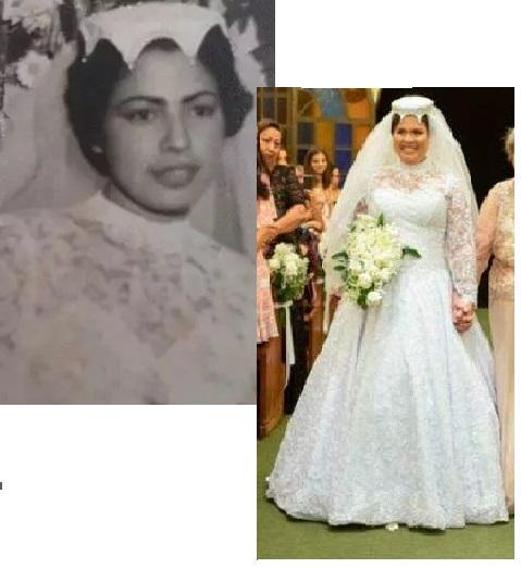 avó da julia e ela no casamento