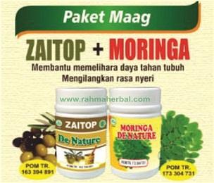 Zaitop dan Moringa Paket maag - lambung