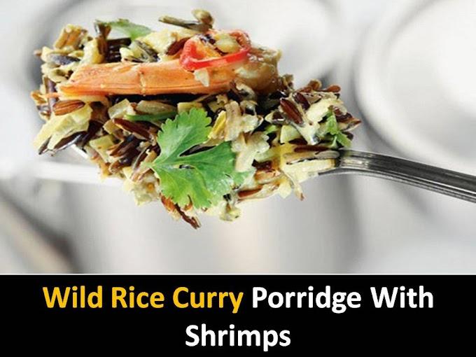 Wild Rice Curry Porridge with Shrimps