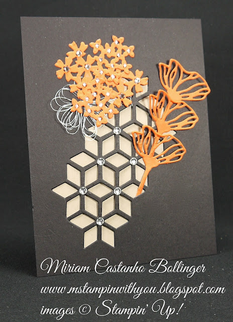 Miriam Castanho-Bollinger, #mstampinwithyou, stampin up, demonstrator, dsc, all occasions card, big shot, eclectic layers thinlits, metallic thread, metallic enamel, su