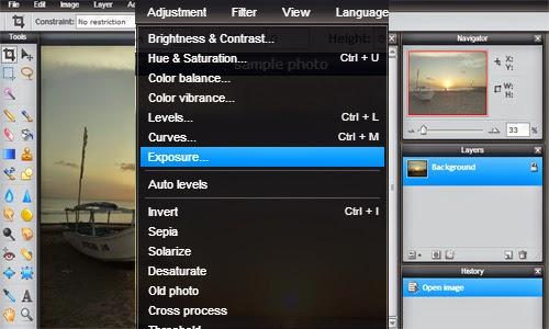 Pixlr Editor untuk Mengatur Pencahayaan dan Warna Foto