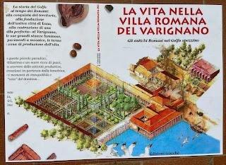 Varignano Roman Villa - Informational sign - how it used to look
