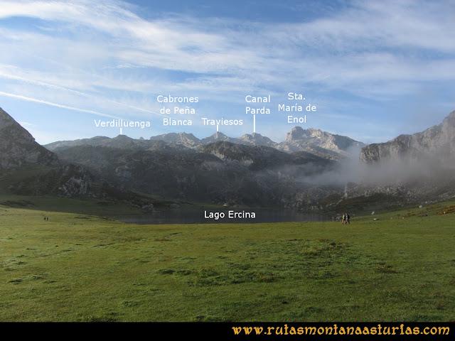 Ruta Ercina, Jultayu, Cuvicente: Vista desde el Lago de Ercina
