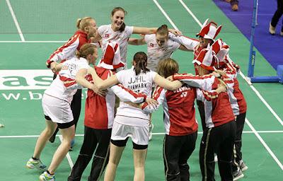 BÁDMINTON - Campeonato de Europa por equipos femenino 2016 (Kazan, Rusia). Dinamarca se cuelga el oro ante Bulgaria. España logra el bronce