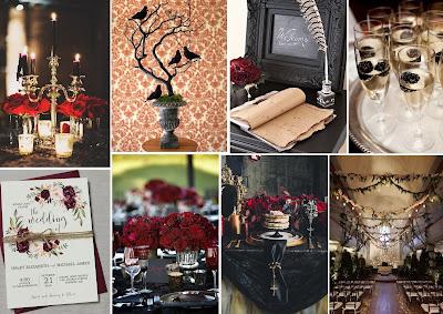 décoration mariage thème gothique chic