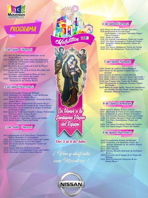 programa feria Metztitlán 2018